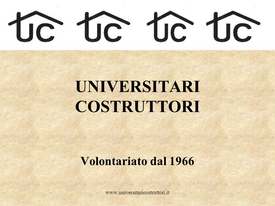 UNIVERSITARI COSTRUTTORI