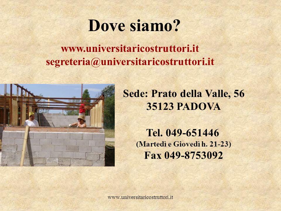 Sede: Prato della Valle, 56