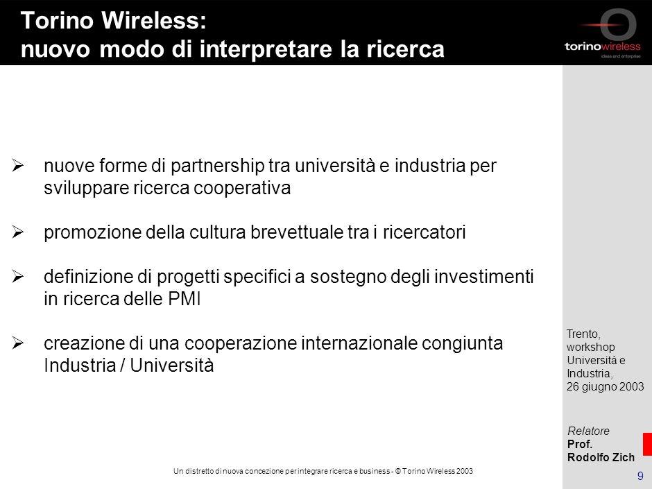 Torino Wireless: nuovo modo di interpretare la ricerca