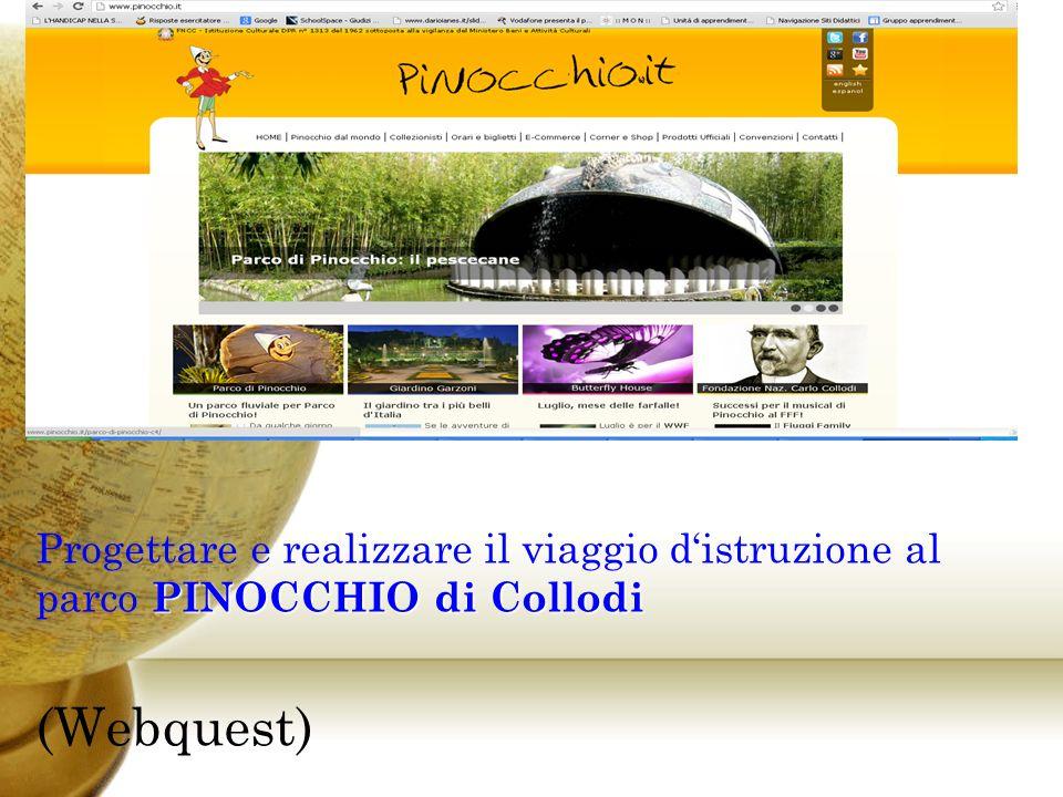 Progettare e realizzare il viaggio d'istruzione al parco PINOCCHIO di Collodi
