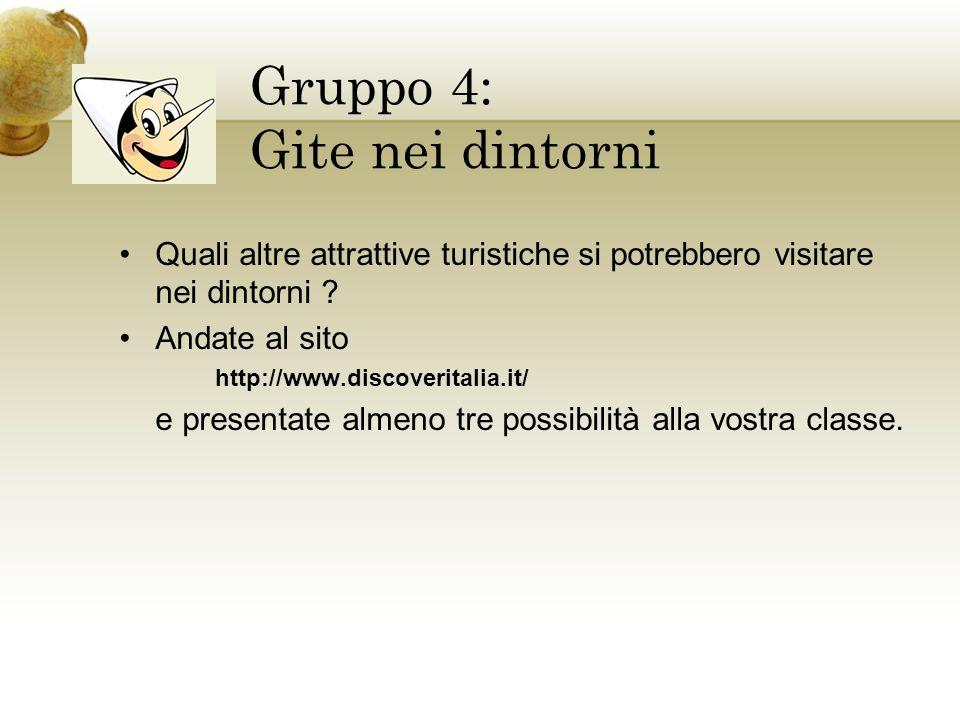 Gruppo 4: Gite nei dintorni
