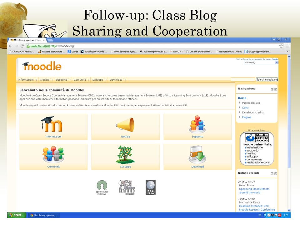 Follow-up: Class Blog Sharing and Cooperation