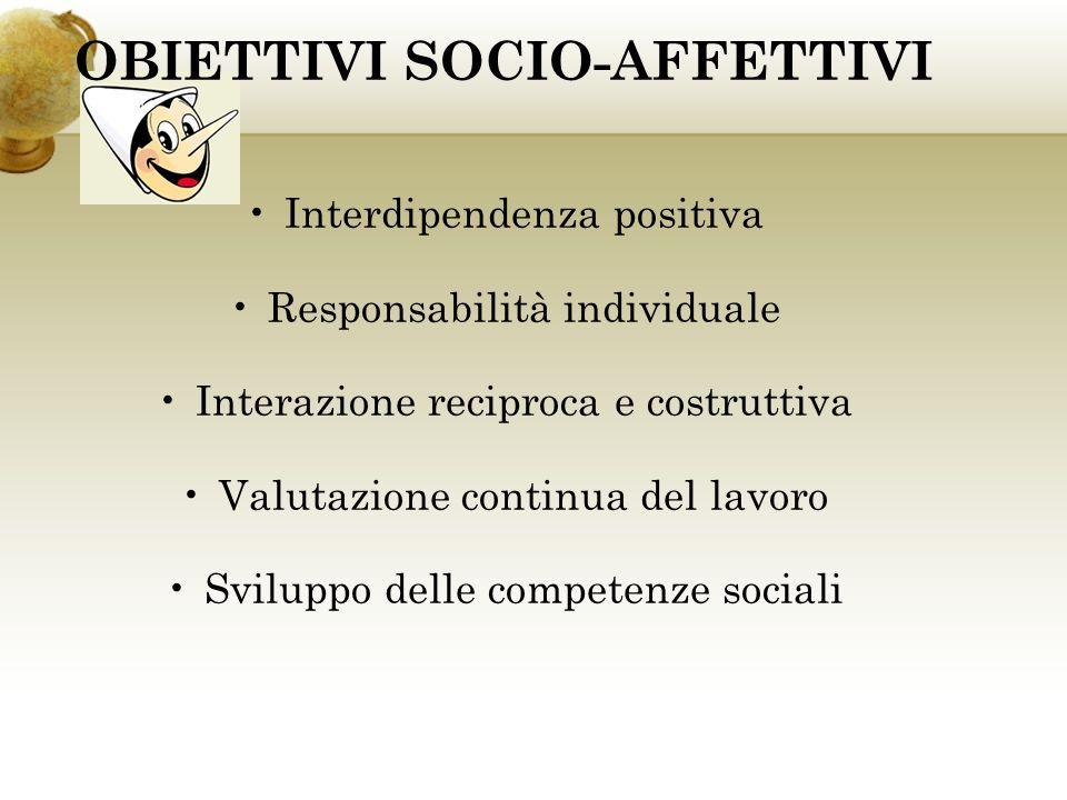 OBIETTIVI SOCIO-AFFETTIVI