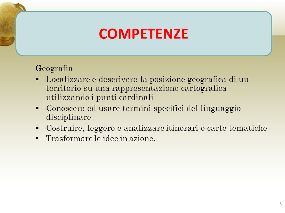 COMPETENZE Geografia.