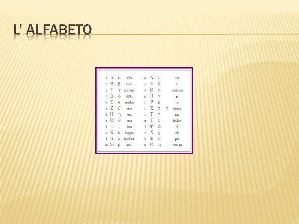 L' ALFABETO