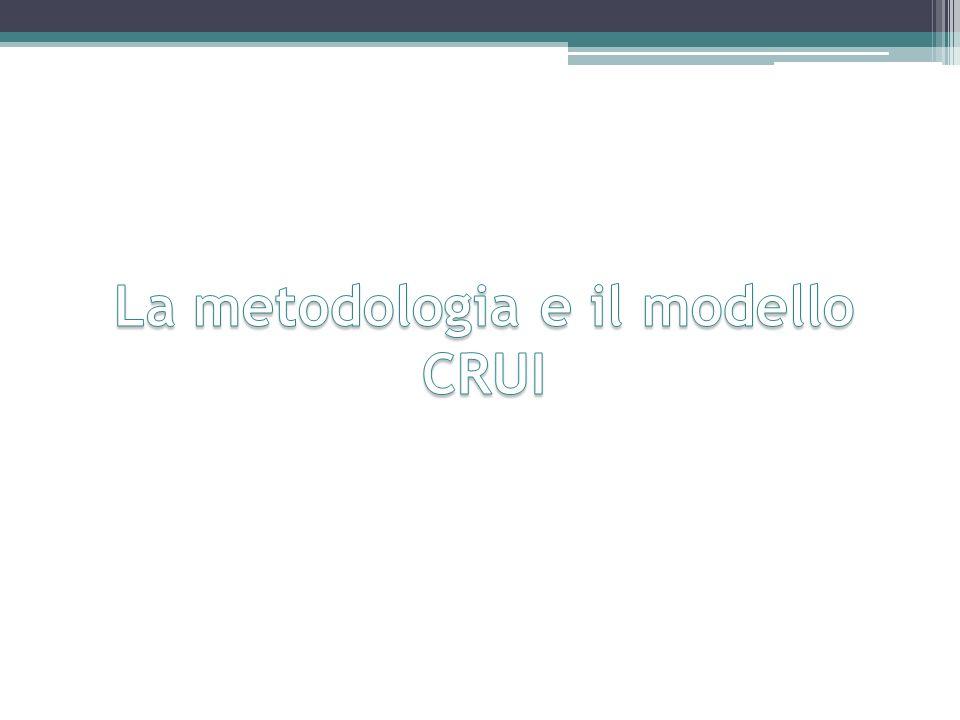 La metodologia e il modello CRUI