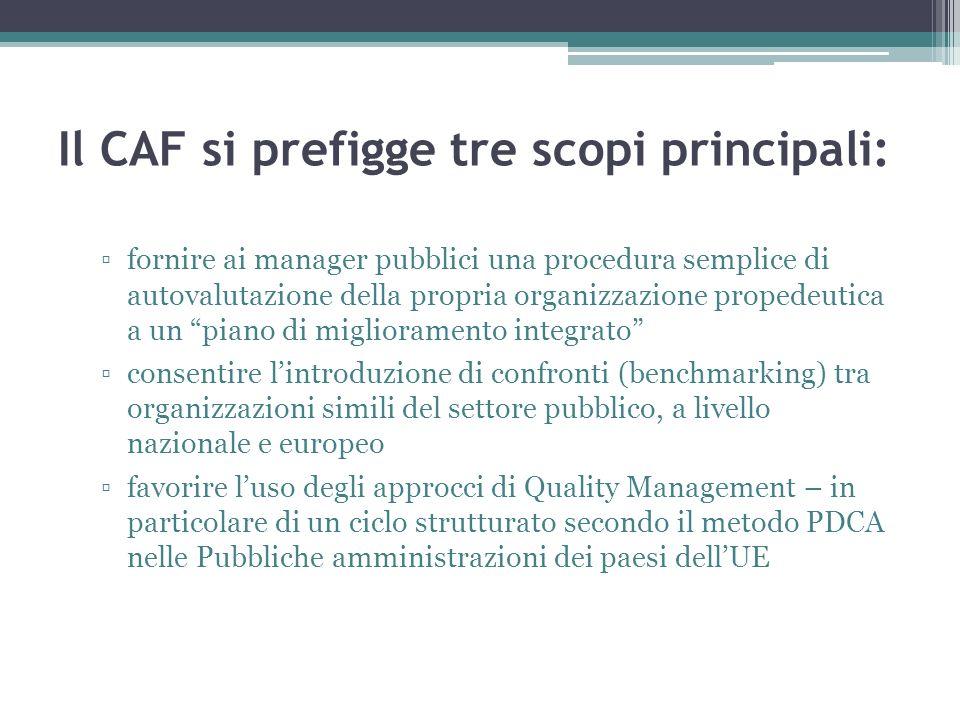 Il CAF si prefigge tre scopi principali: