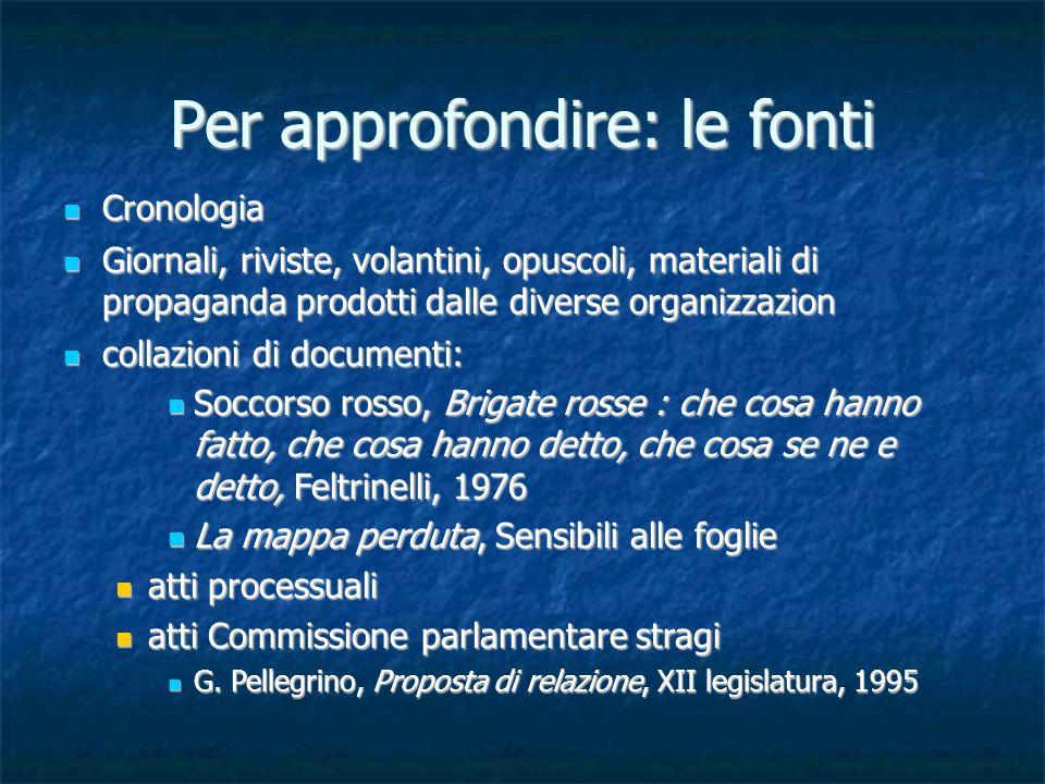 I terrorismi nella storia dell italia repubblicana ppt for Riviste feltrinelli