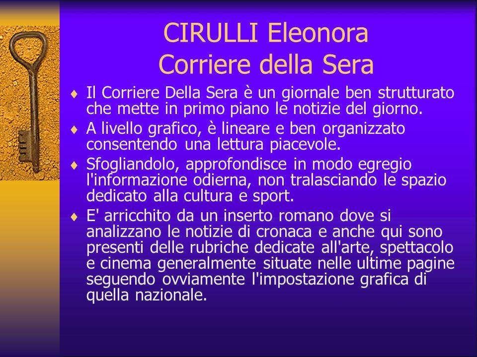 CIRULLI Eleonora Corriere della Sera