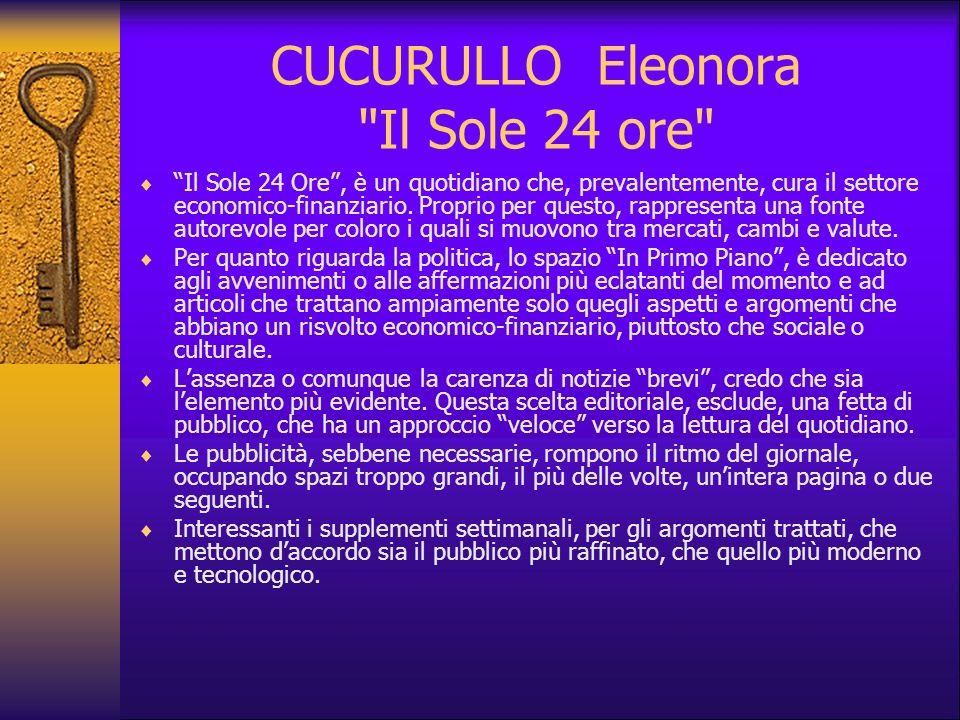 CUCURULLO Eleonora Il Sole 24 ore