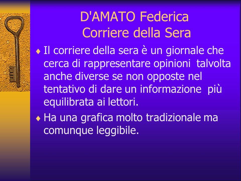 D AMATO Federica Corriere della Sera