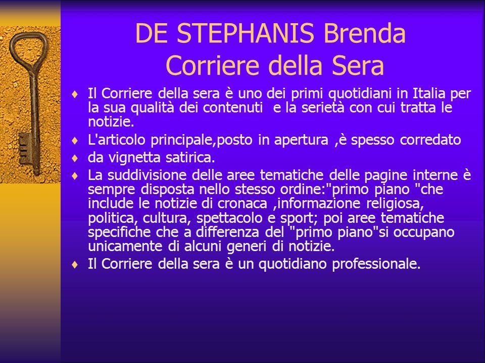 DE STEPHANIS Brenda Corriere della Sera