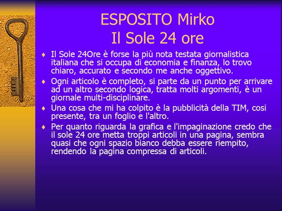 ESPOSITO Mirko Il Sole 24 ore