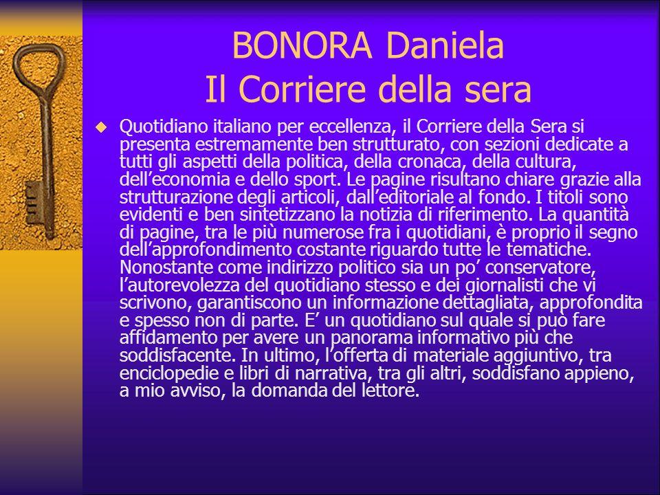 BONORA Daniela Il Corriere della sera
