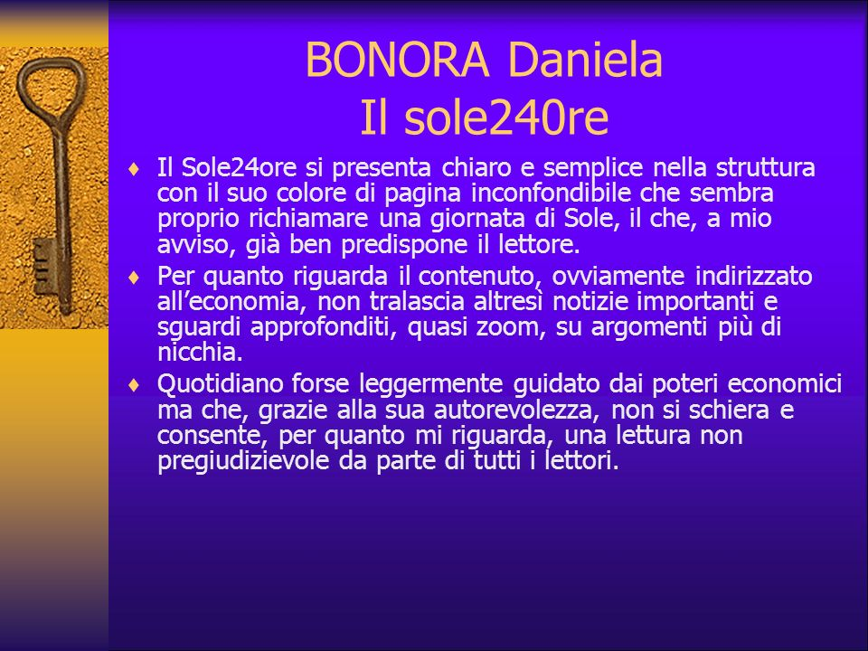 BONORA Daniela Il sole240re