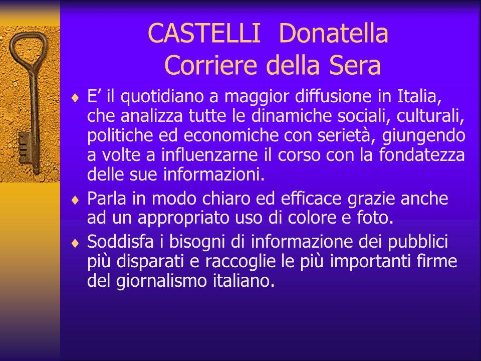CASTELLI Donatella Corriere della Sera