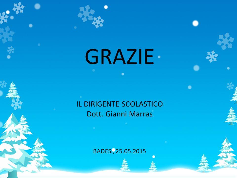 GRAZIE IL DIRIGENTE SCOLASTICO Dott. Gianni Marras BADESI, 25.05.2015