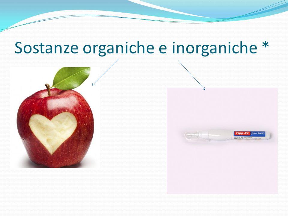 Sostanze organiche e inorganiche *