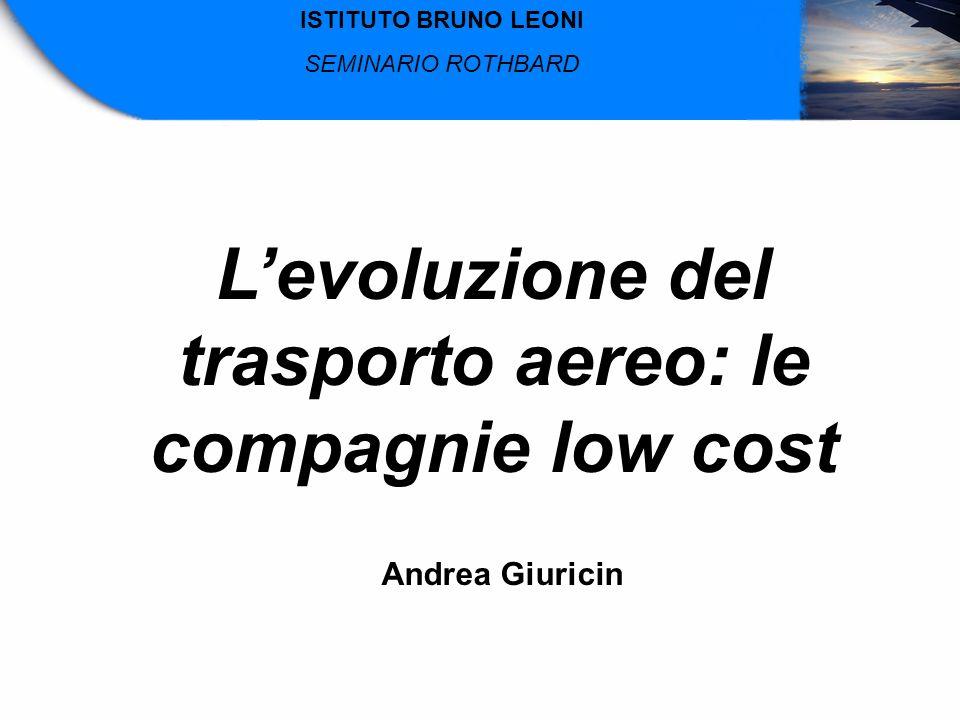 L'evoluzione del trasporto aereo: le compagnie low cost