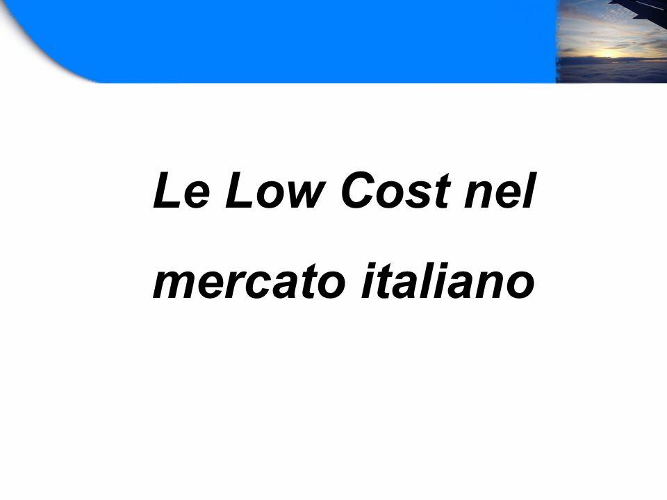 Le Low Cost nel mercato italiano