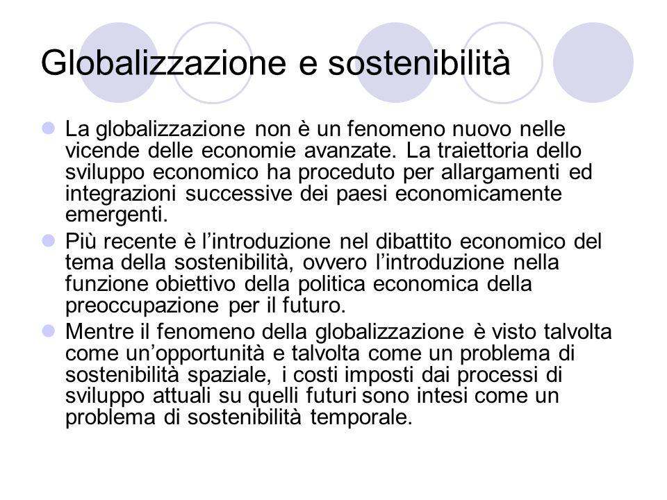 Globalizzazione e sostenibilità