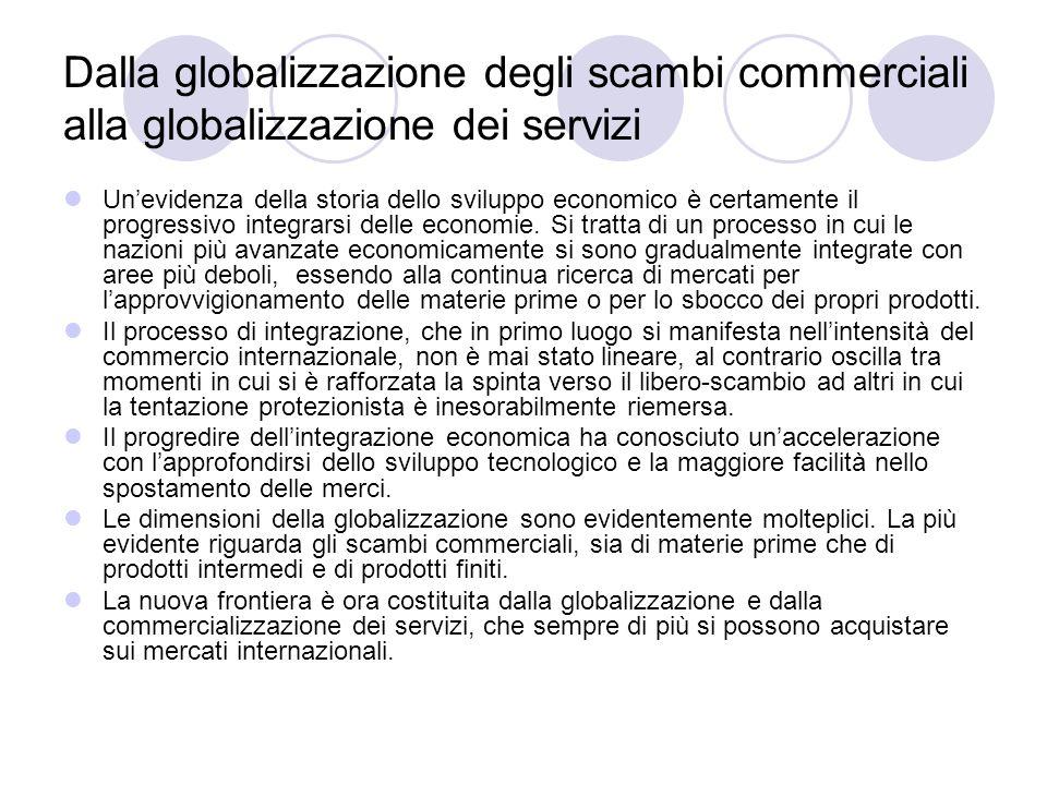 Dalla globalizzazione degli scambi commerciali alla globalizzazione dei servizi