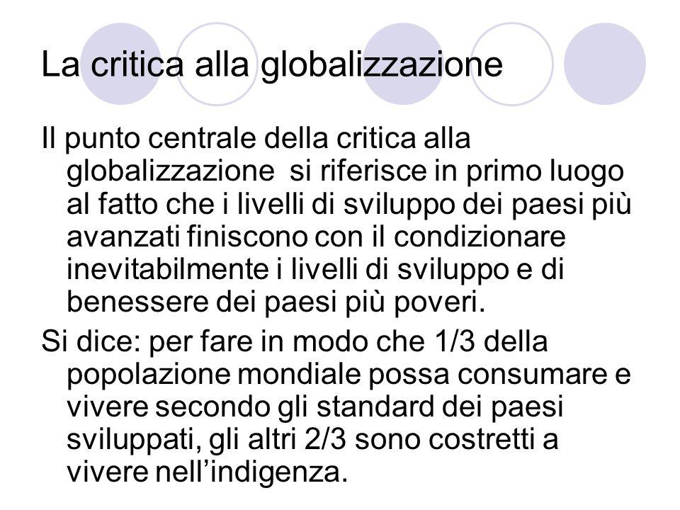 La critica alla globalizzazione