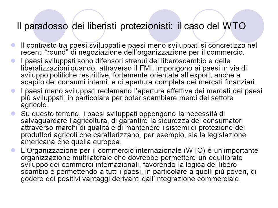 Il paradosso dei liberisti protezionisti: il caso del WTO