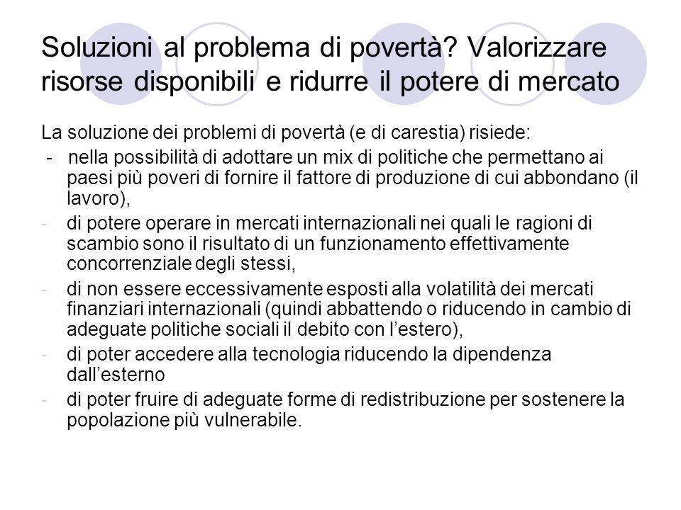 Soluzioni al problema di povertà