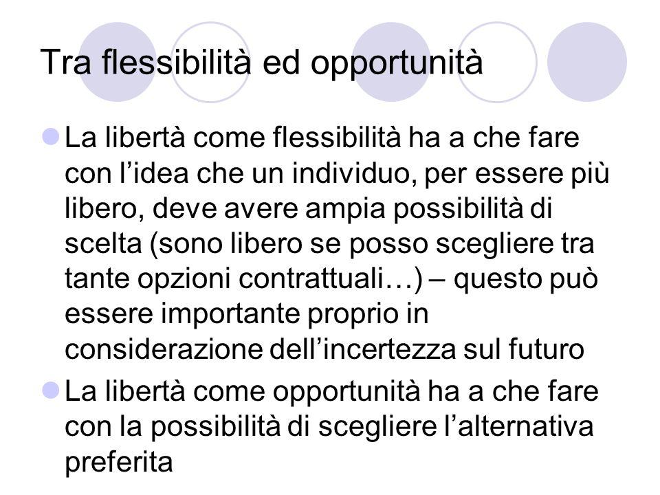 Tra flessibilità ed opportunità