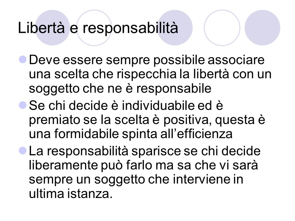 Libertà e responsabilità