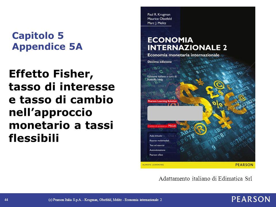 Capitolo 5 Appendice 5A Effetto Fisher, tasso di interesse e tasso di cambio nell'approccio monetario a tassi flessibili.