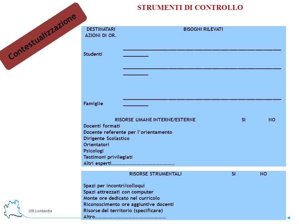 DESTINATARI AZIONI DI OR. RISORSE UMANE INTERNE/ESTERNE