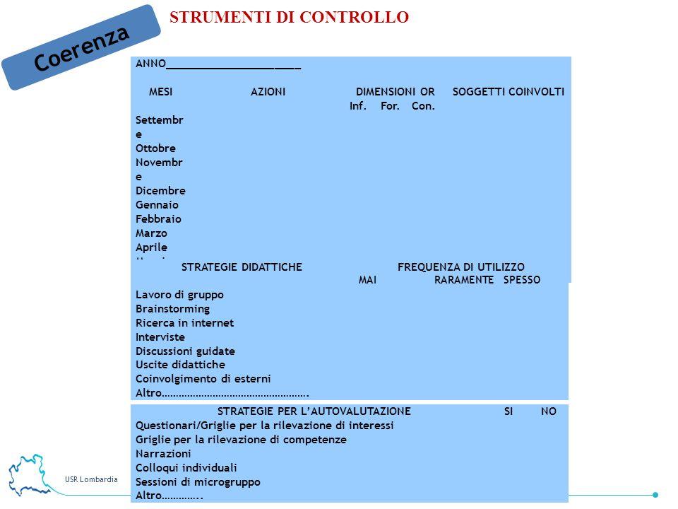 STRATEGIE PER L'AUTOVALUTAZIONE