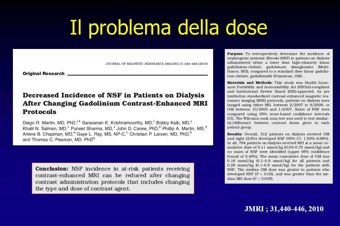Il problema della dose JMRI ; 31,440-446, 2010