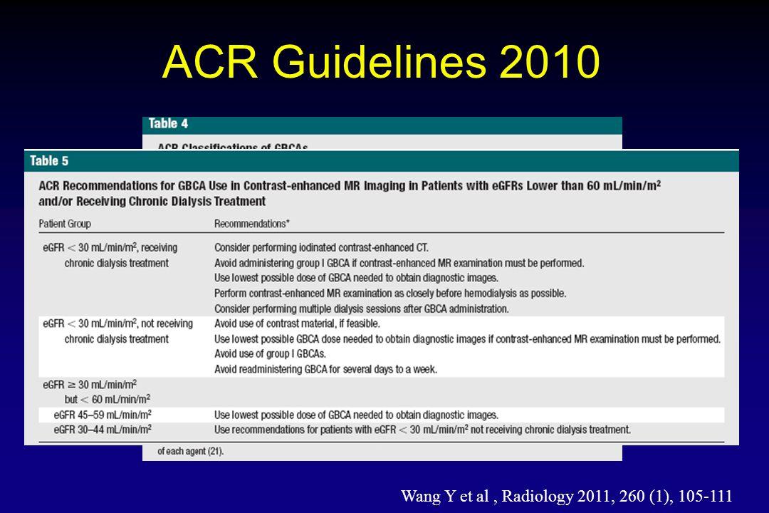Wang Y et al , Radiology 2011, 260 (1), 105-111