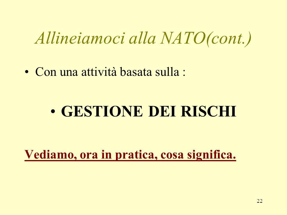 Allineiamoci alla NATO(cont.)