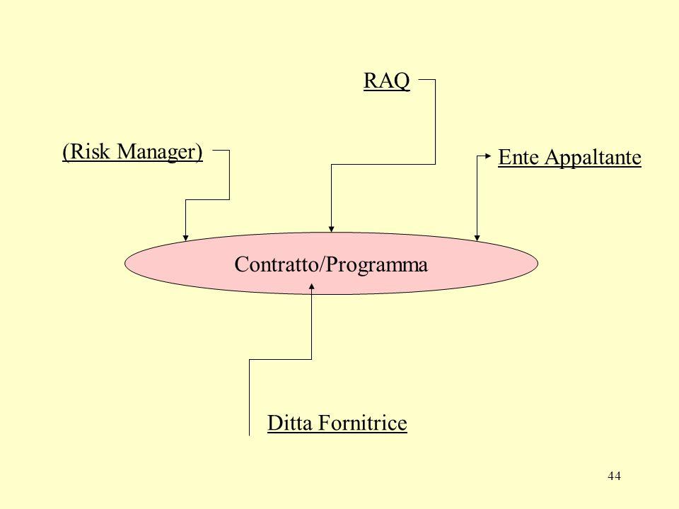 RAQ (Risk Manager) Ente Appaltante Contratto/Programma Ditta Fornitrice