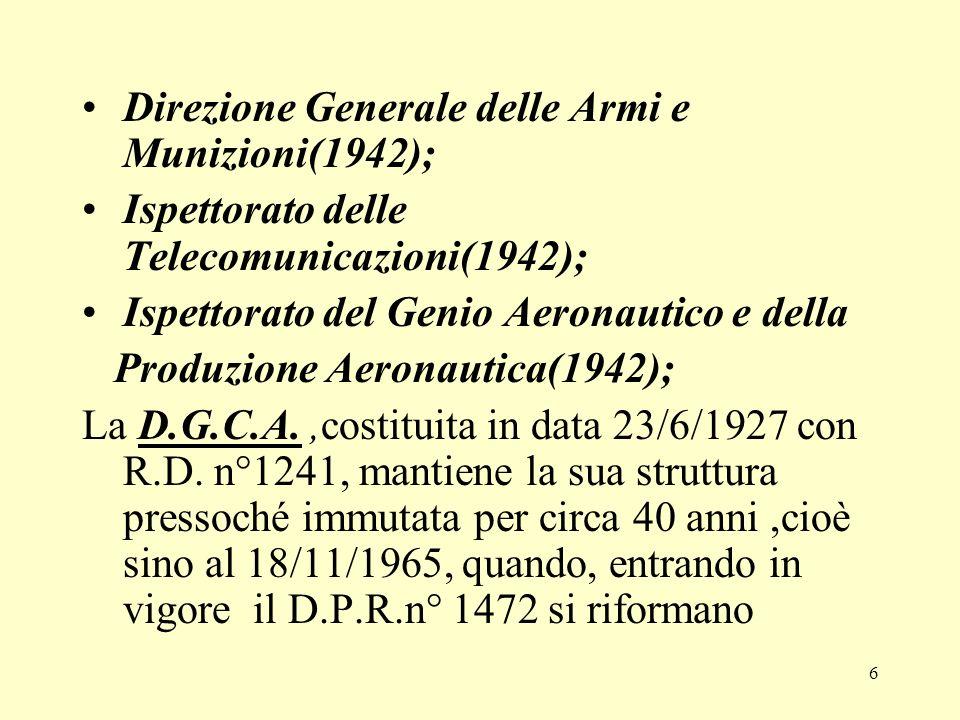 Direzione Generale delle Armi e Munizioni(1942);