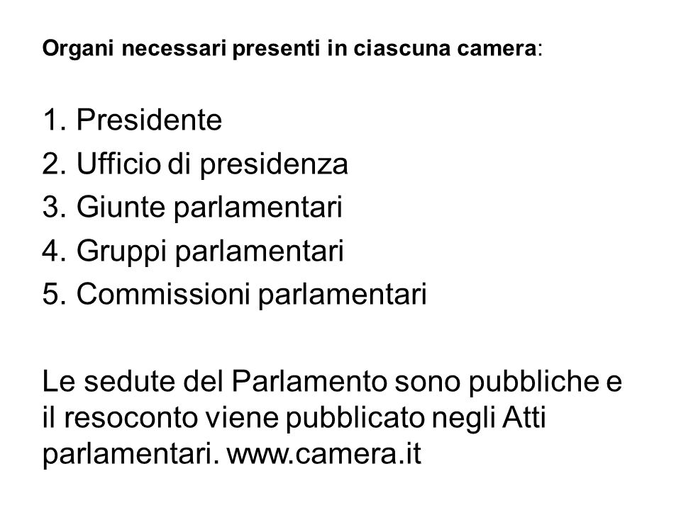 Parlamento parlamento ppt video online scaricare for Atti parlamentari camera