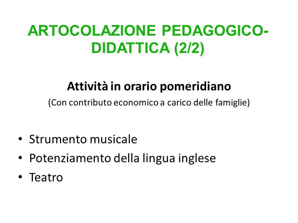 ARTOCOLAZIONE PEDAGOGICO-DIDATTICA (2/2)