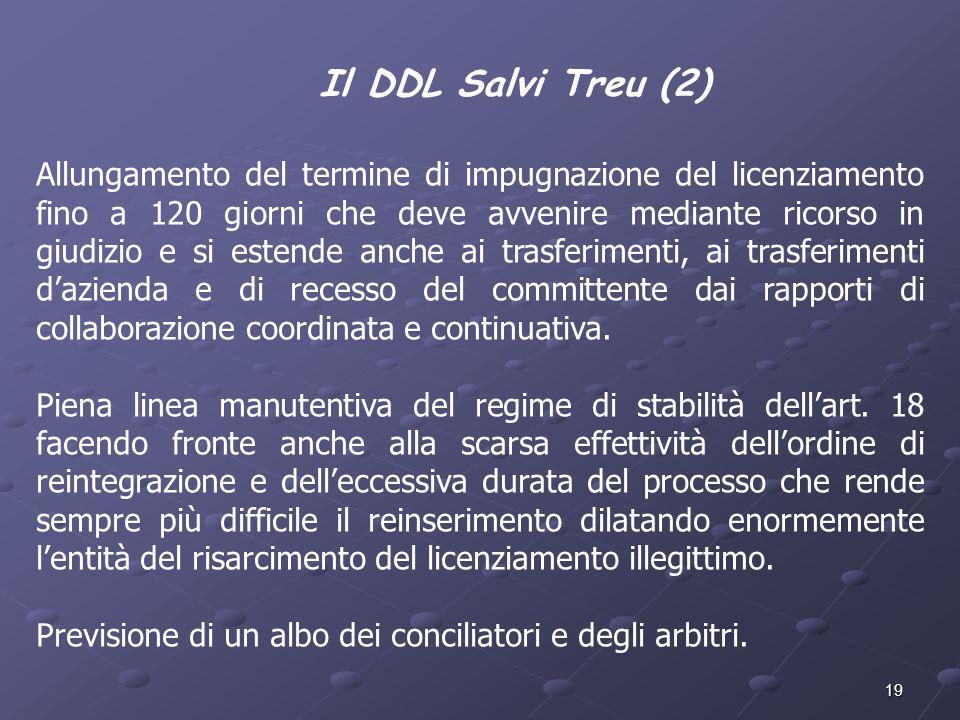 Il DDL Salvi Treu (2)