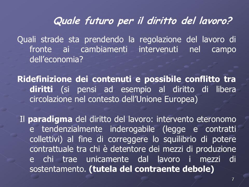 Quale futuro per il diritto del lavoro