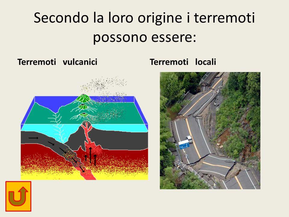 Secondo la loro origine i terremoti possono essere: