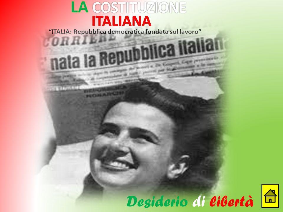 LA COSTITUZIONE ITALIANA Desiderio di libertà