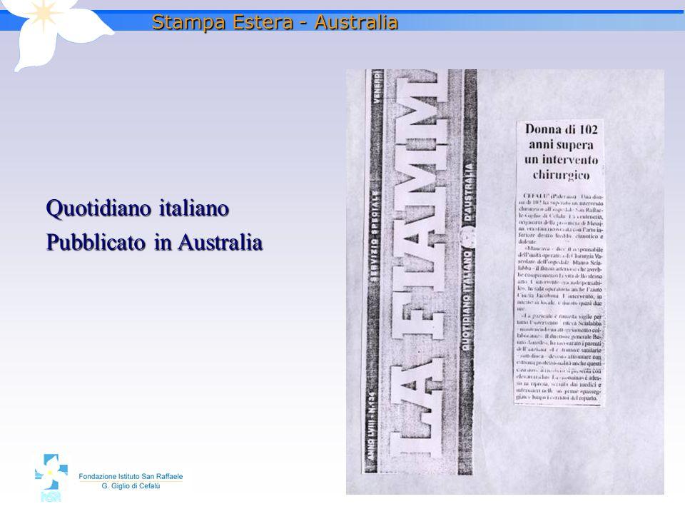 Stampa Estera - Australia
