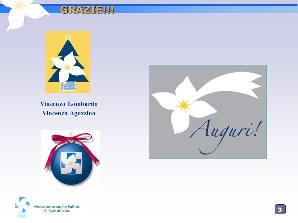 GRAZIE!!! Vincenzo Lombardo Vincenzo Agozzino