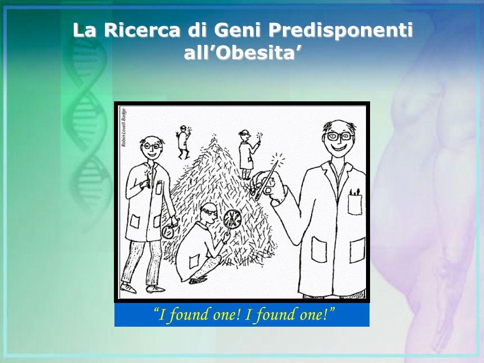 La Ricerca di Geni Predisponenti all'Obesita'