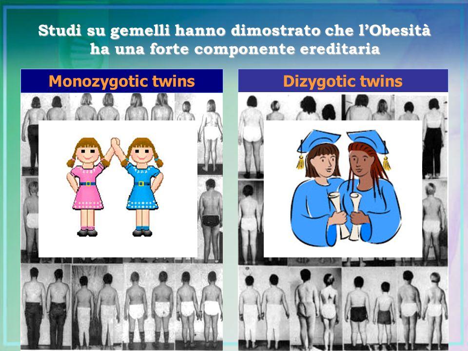 Studi su gemelli hanno dimostrato che l'Obesità ha una forte componente ereditaria
