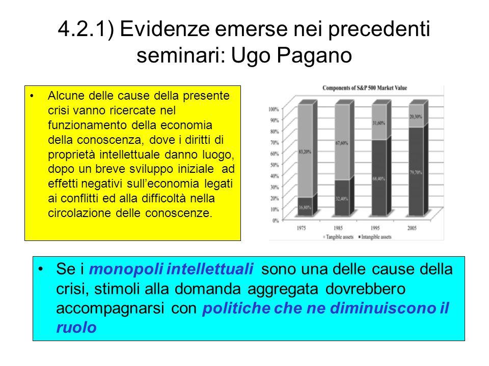 4.2.1) Evidenze emerse nei precedenti seminari: Ugo Pagano